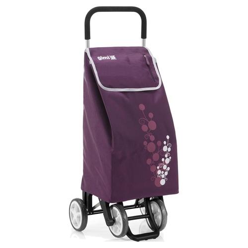 Nákupní taška na kolečkách TWIN fialová