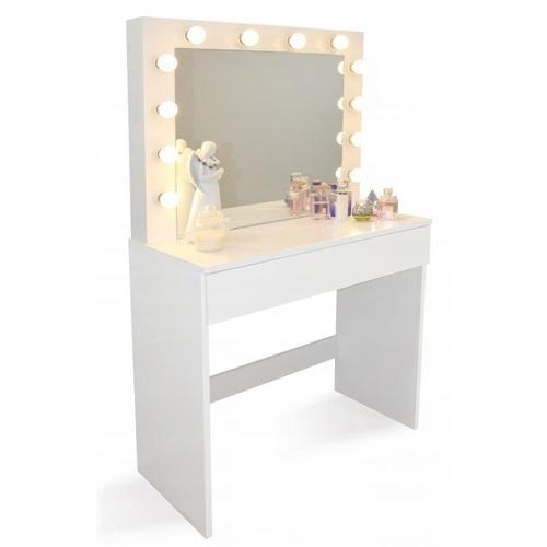ALDOSRO Toaletní kosmetický stolek Linda 80x40x140cm se zrcadlem
