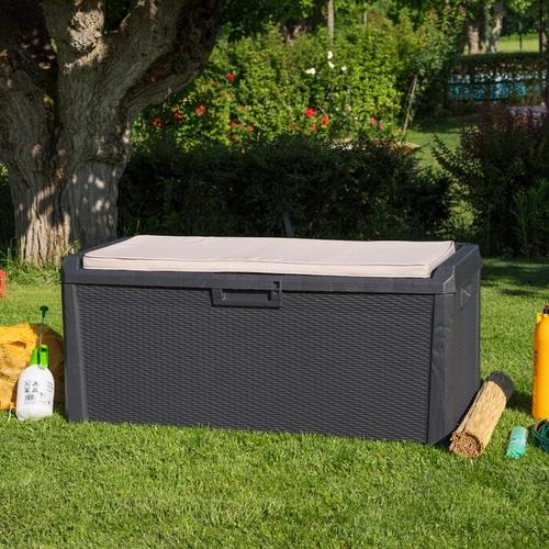 Zahradní úložný box na nářadí a polstry Santorini Plus