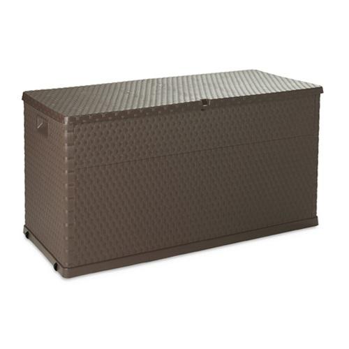 ALDO zahradní úložný box RATTAN 420l hnědý