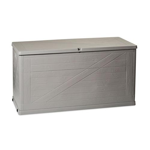 ALDO zahradní  box na polstry WOOD 420l šedý