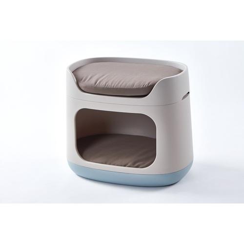 CURVER Pelíšek pro domácí mazlíčky, krémová-modrá/hnědý polstr
