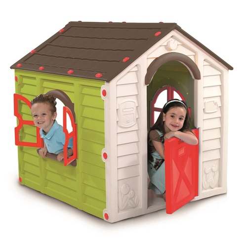Keter RANCHO PLAYHOUSE dětský domek, zelená/hnědá