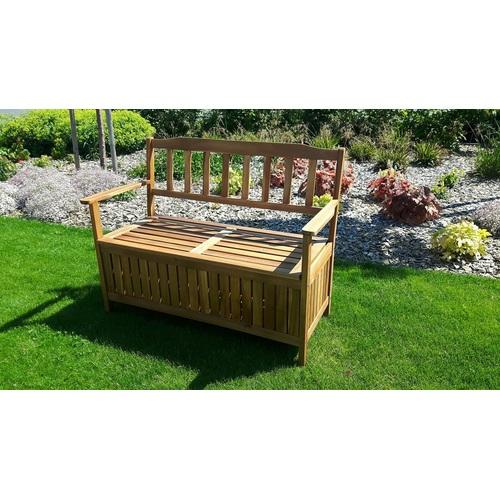Dřevěná lavice Edita s úložným prostorem dřevo akácie