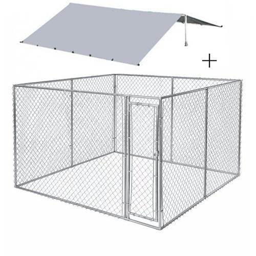 ALDO Venkovní psí kotec se střechou 3x3x2m