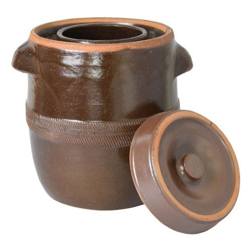 Sud hrnec na zelí keramika zelák