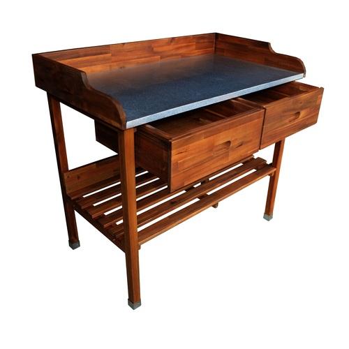 ALDOS Grilovací stolek Alan dřevěný 100x55x90cm