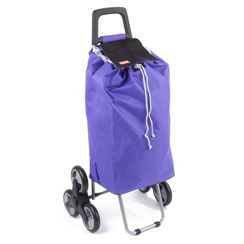 Nákupní taška na kolečkách do schodů MADRID fialová