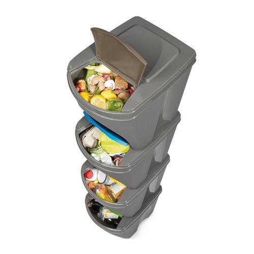 Sada 3 odpadkových košů Sortibox