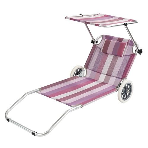 ALDO plážové lehátko se stříškou - vozík