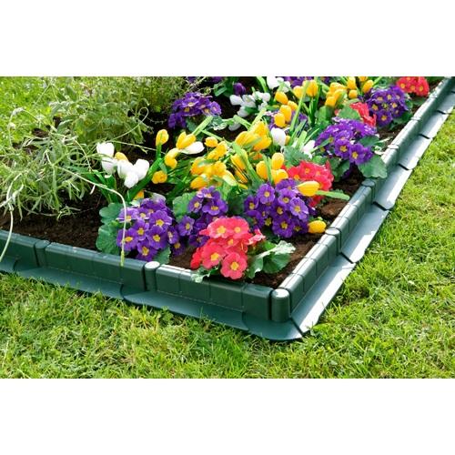 Zahradní palisáda obrubník plastový s pojezdem