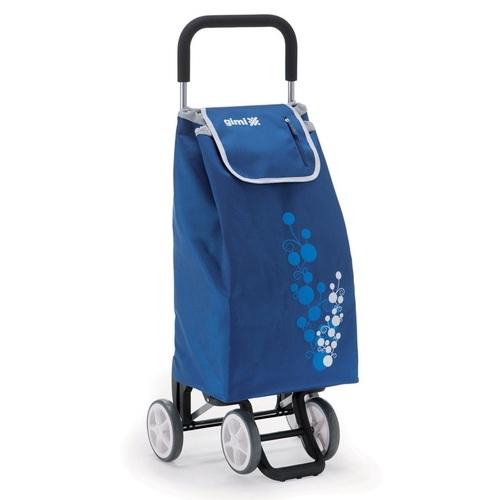 Nákupní taška na kolečkách TWIN modrá